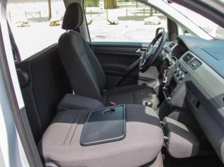 Caddy 4 Beifahrersitz umgeklappt