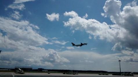 Flugzeug Landeanflug