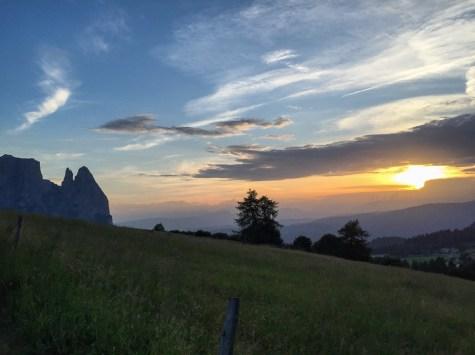 Seiser Alm Sonnenuntergang mit Ausblick-2