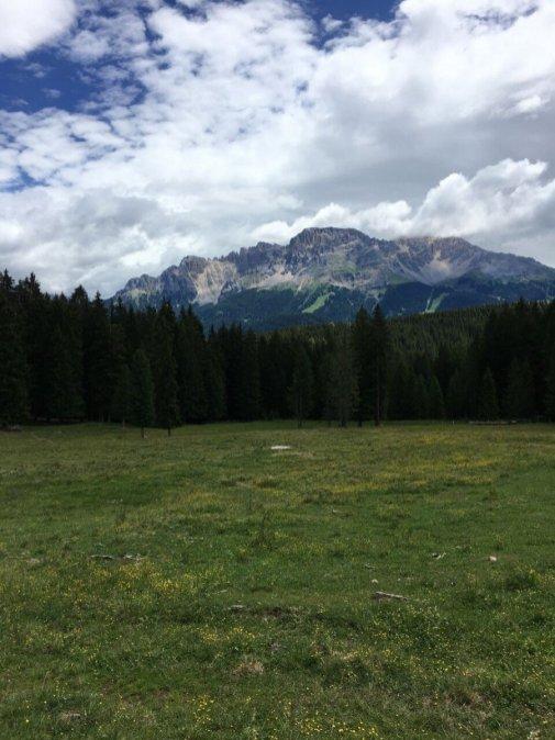 Blick auf die Dolomiten