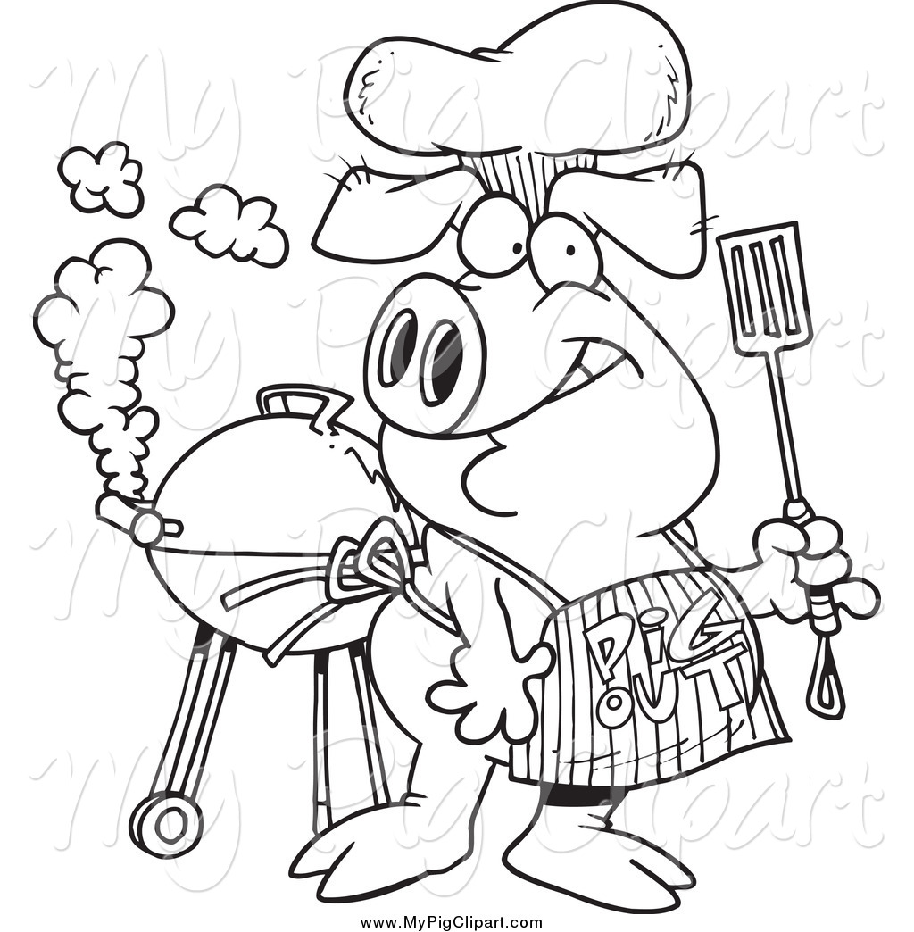 Royalty Free Barbeque Stock Pig Designs