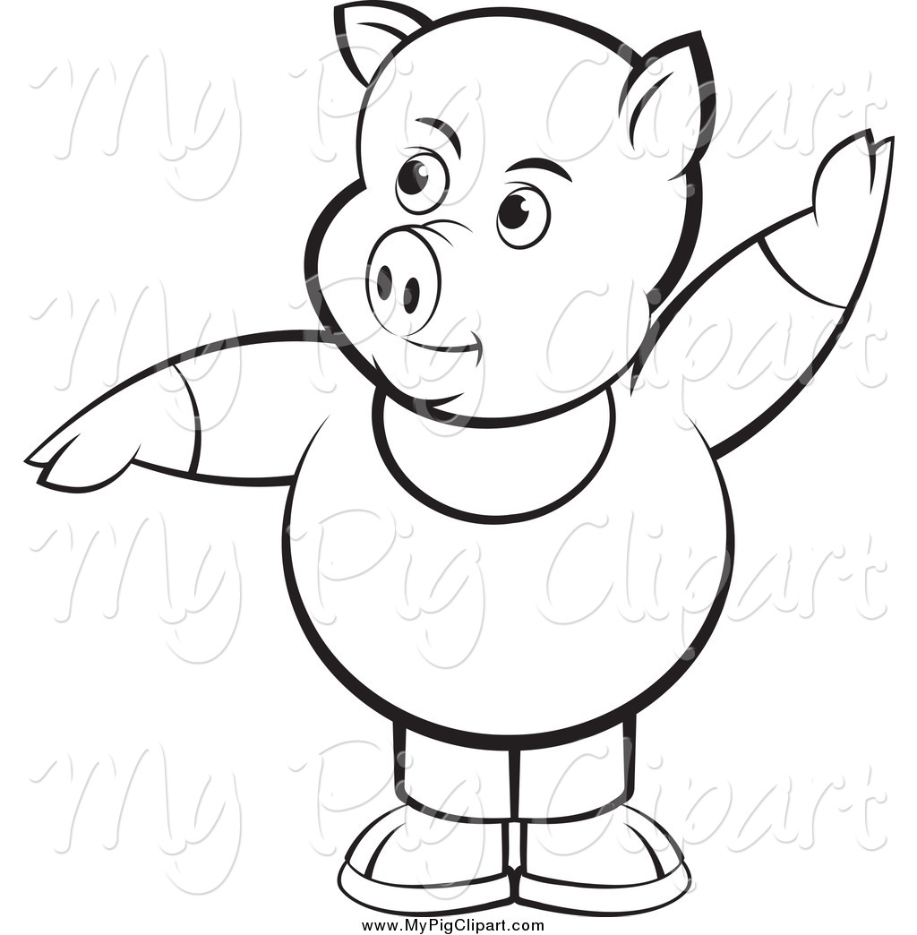 Royalty Free Stock Pig Designs Of Outlines