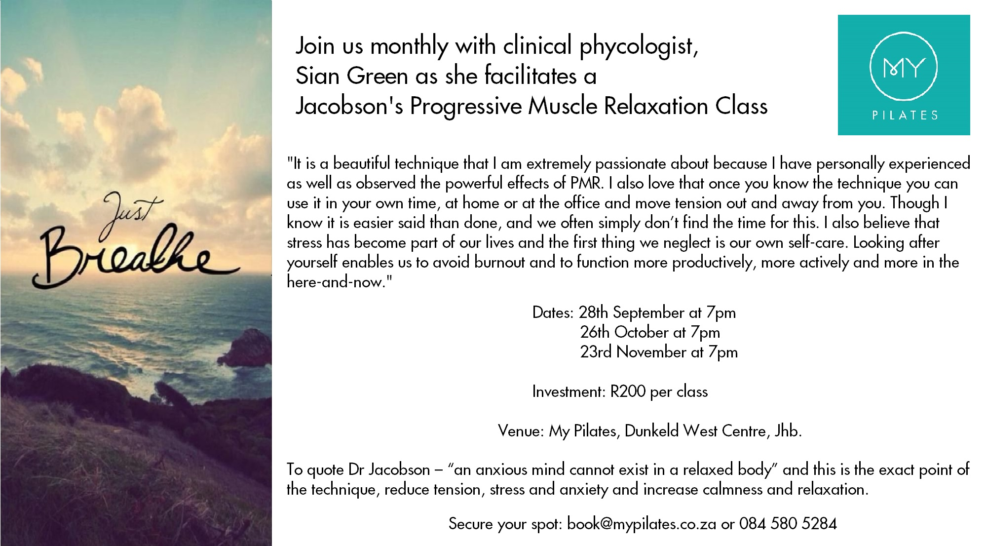 Jacobson S Progressive Muscle Relaxation Class At My