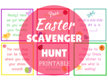 Easter Scavenger Hunt Printable