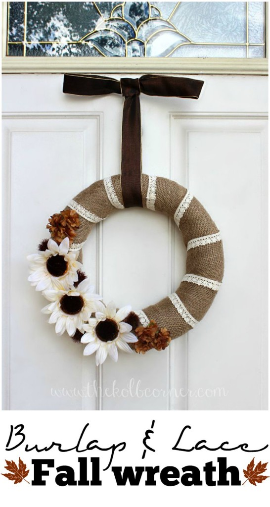 Burlap and Lace Fall Wreath
