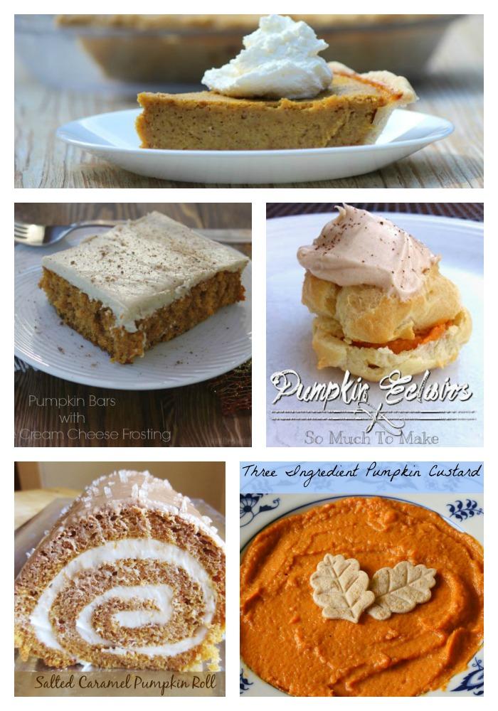 Fall pumpkin desserts