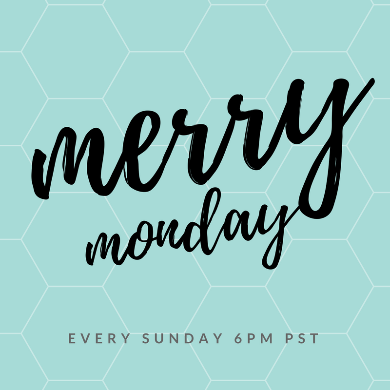 Merry Monday Link party opens every Sunday night at 9pm est