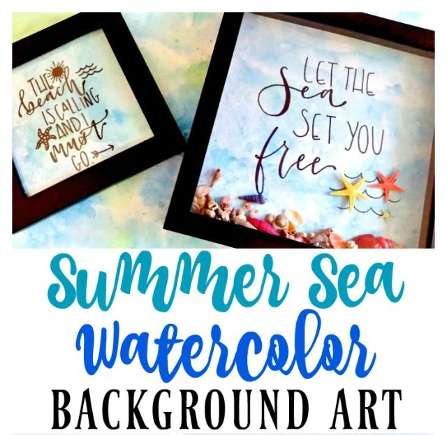 Summer Sea Watercolor Background Art