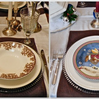Quick Change Tablescape:  Autumn to Winter; Thanksgiving to Christmas