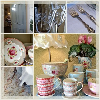 Tablescape Inspiration Board:  Shabby Chic