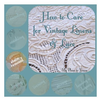 MYSTERY STAIN REMOVAL: How to Care for Vintage Linens & Lace