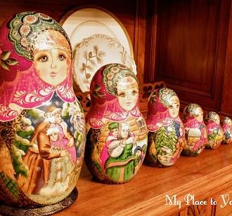 Russian Winter Tablescape