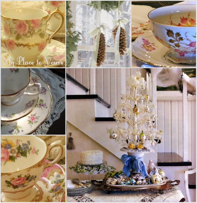 Xmas tea collage