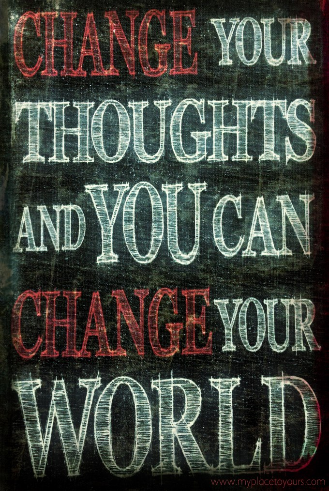 change thoughts