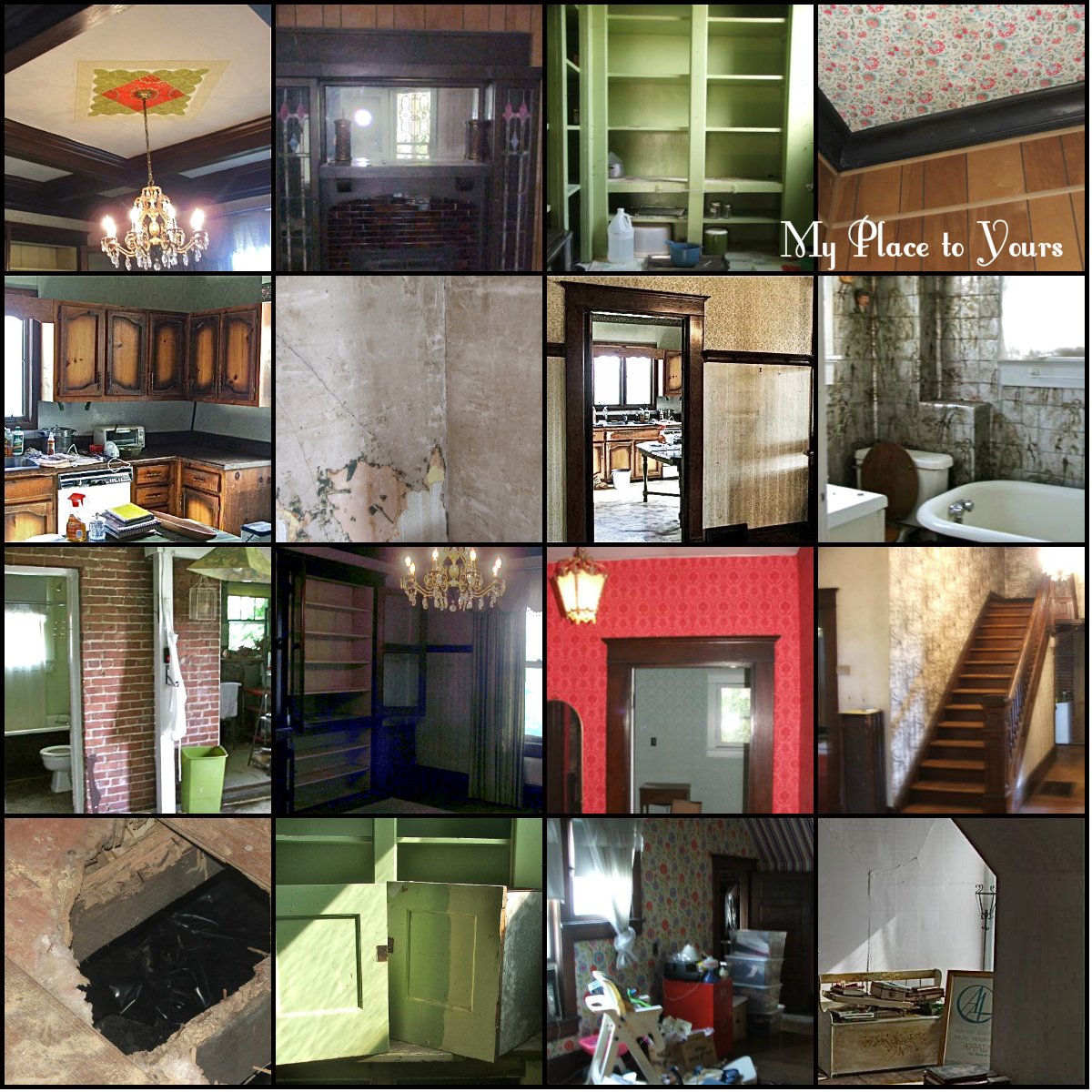 Beginning home renovation pictures.