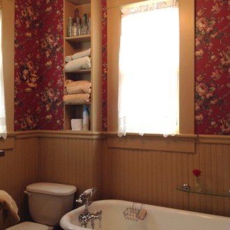 Upstairs Bathroom: Old House Renovation Story