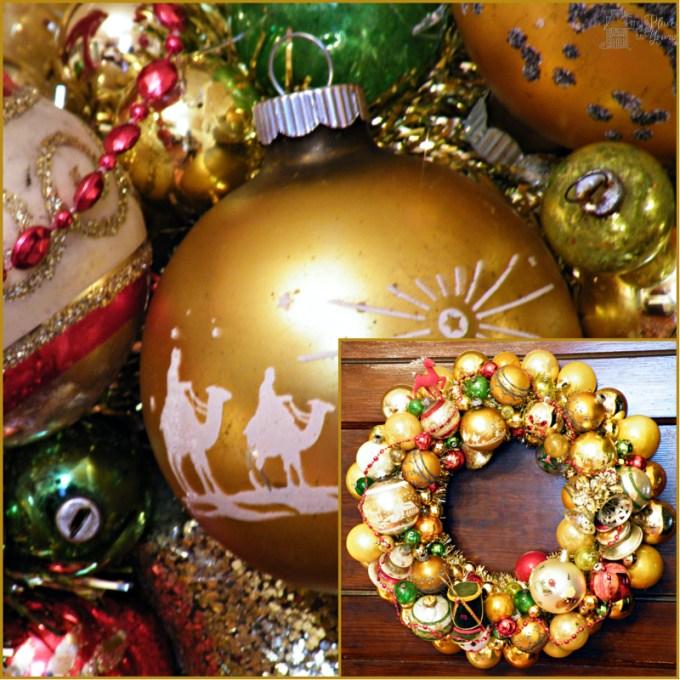 Gold ornament wreath
