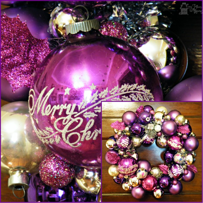 Purple ornament wreath