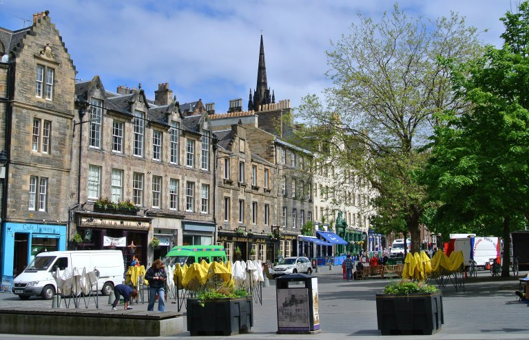 Edinburgh's Grassmarket area.