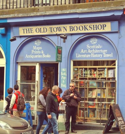 The Old Town Bookshop in Edinburgh, Scotland.