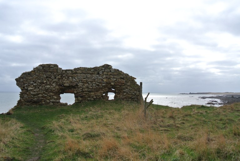 The ruins of Newark Castle on the Firth of Forth.