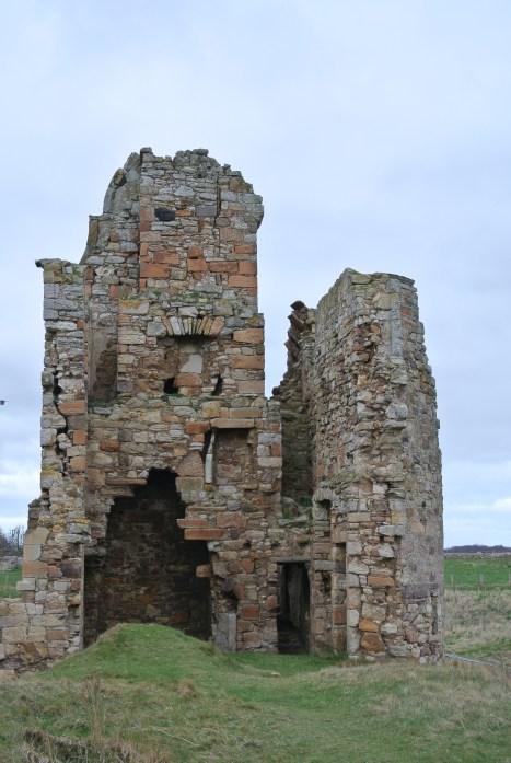 Newark Castle ruin in Fife, Scotland.