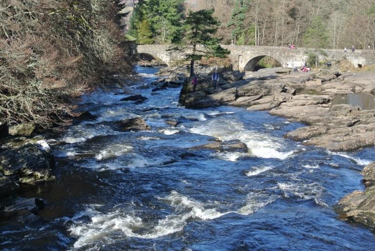 A bridge over the Falls of Dochart.