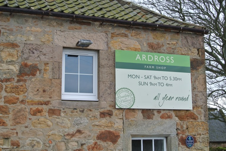 Ardross Farm Shop building exterior.