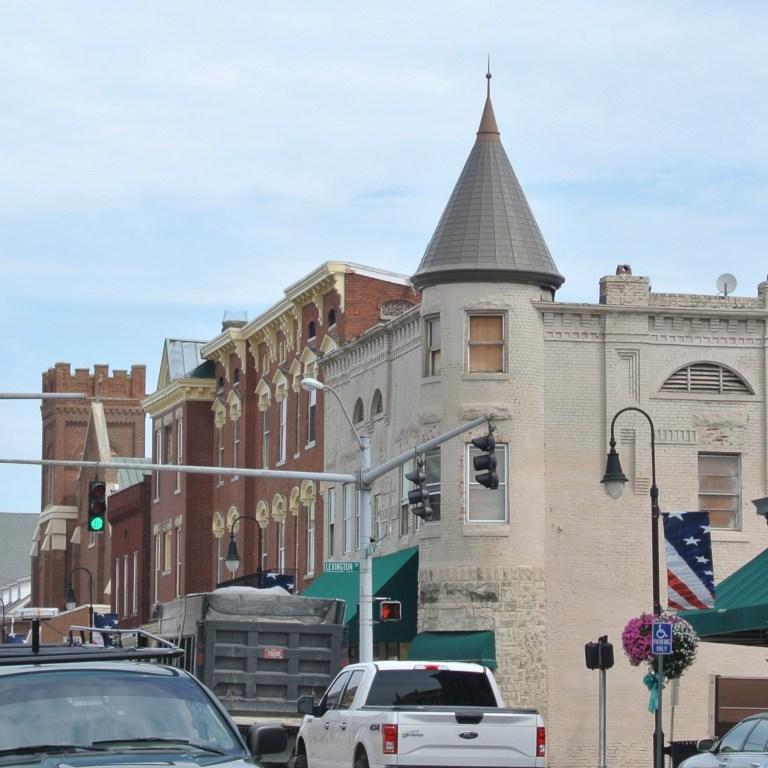 Building in downtown Versailles, Kentucky.