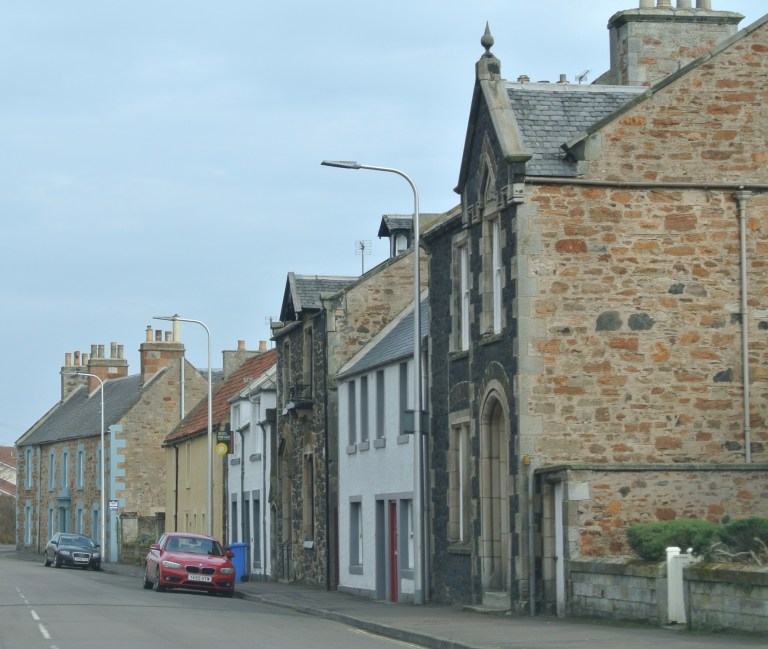 A street in the village of Elie, Scotland.