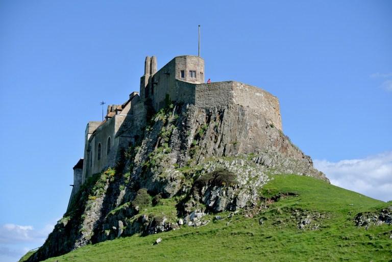 Lindisfarne Castle perched atop Beblowe Crag.