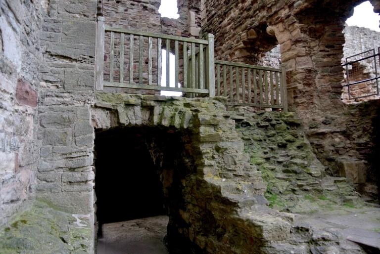 Interior castle ruins.