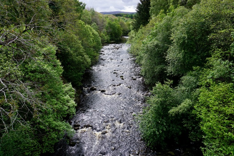 River Fechlin in Scotland.