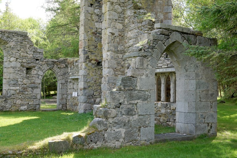 The ruins of Laggan Free Church.