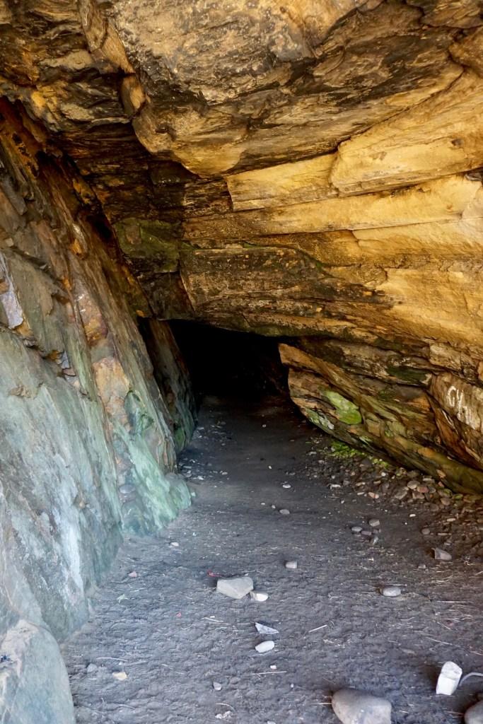 Sea cave at Cove Bay.