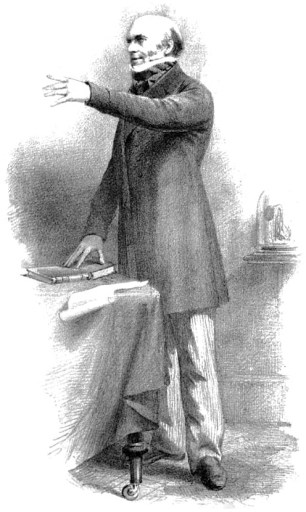 An artist's drawing of Robert Knox.