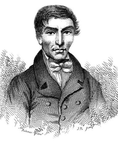 An artist's drawing of William Hare.