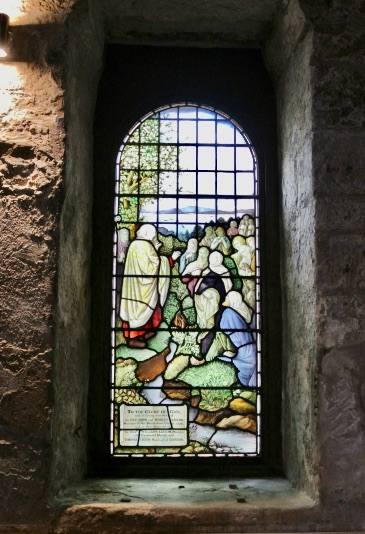 A stained glass window.
