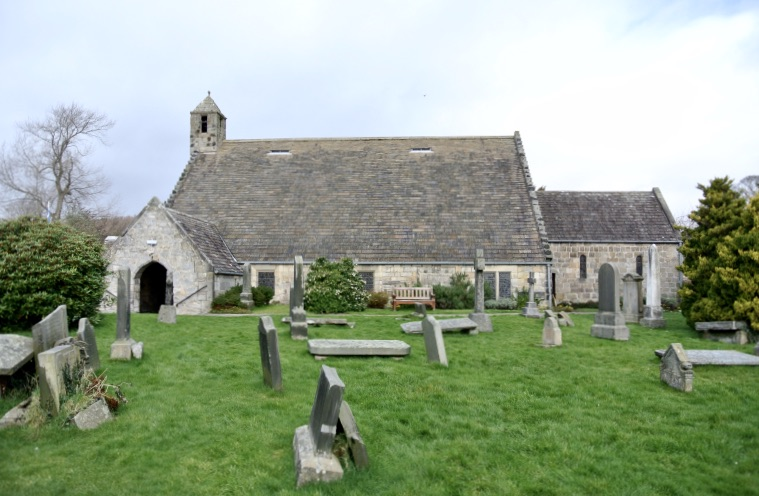 St. Fillan's Church and cemetery.