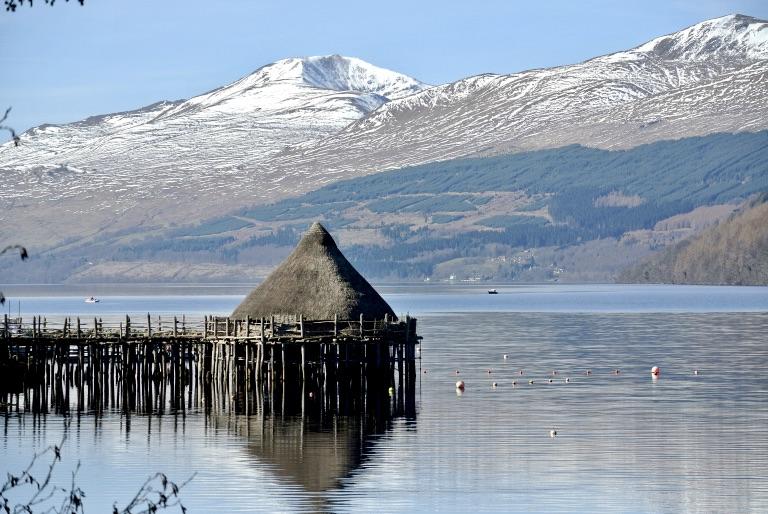 The Scottish Crannog Centre on Loch Tay.