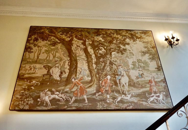 A tapestry depicting the Battle of Culloden.