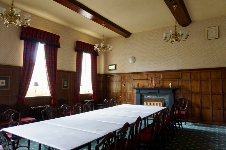 Conference room at Culloden House.