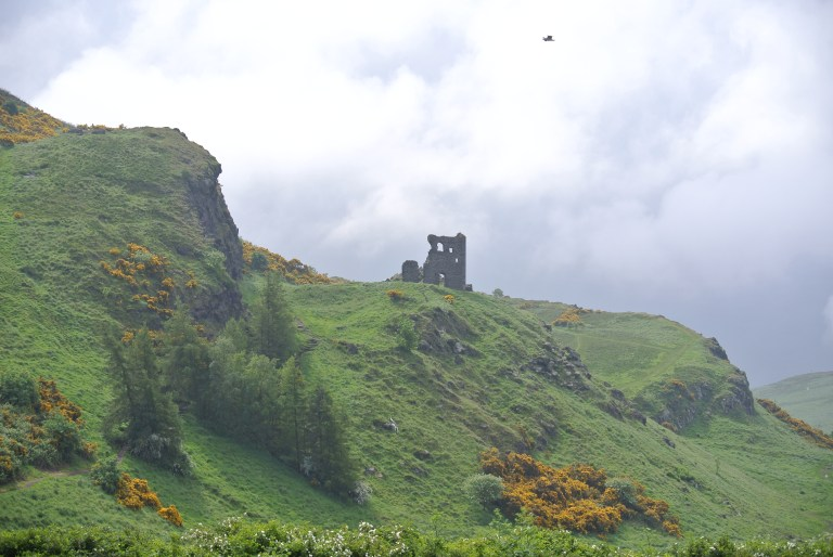 The ruins of St. Anthony's Chapel in Edinburgh, Scotland.