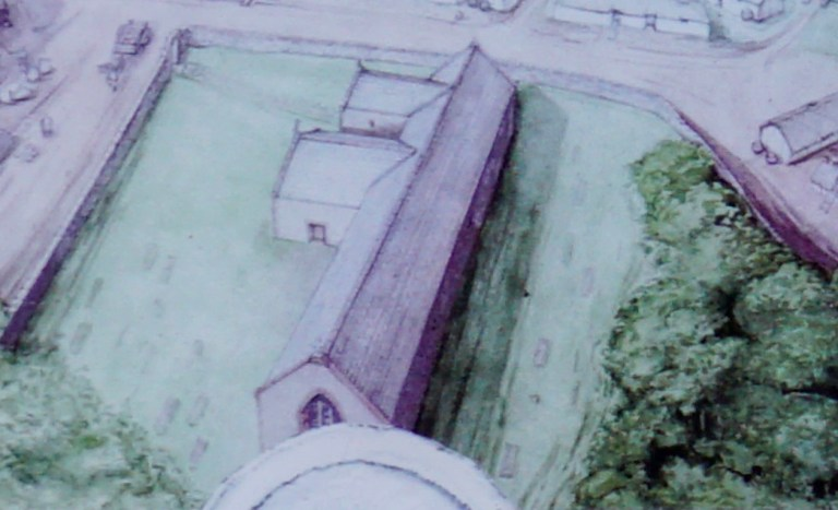 An artist's rendering of St. Talorgan's.