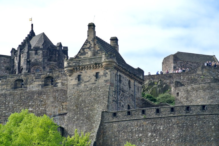 Close up of Edinburgh Castle