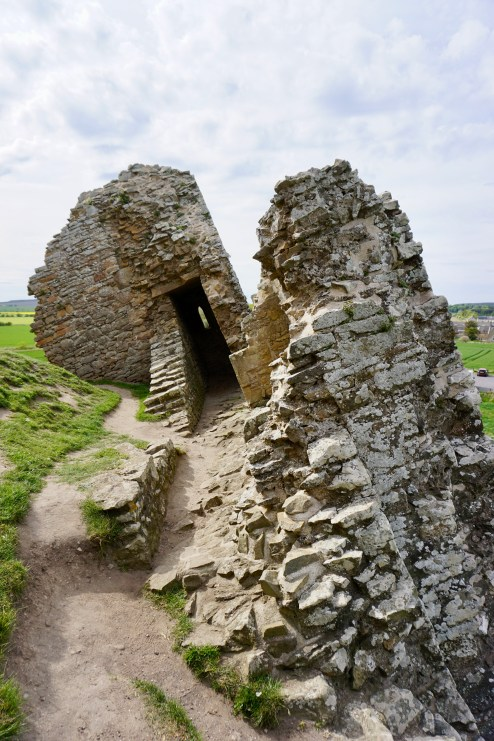 The collapsed keep at Duffus Castle