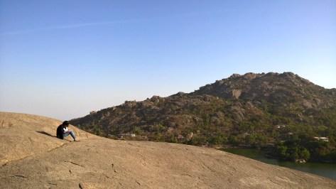Overlooking the Nakki Lake. Mount Abu,, India.