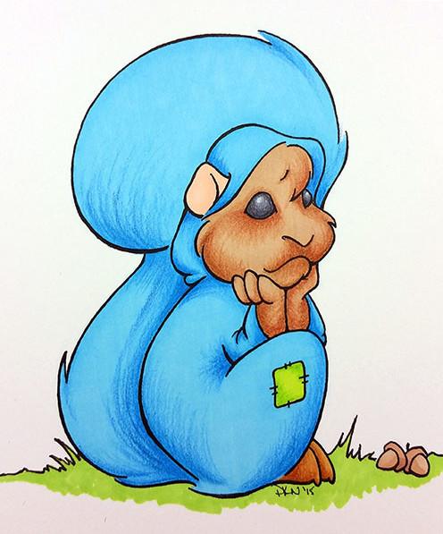 Hamster in hobnobber costume - 2015