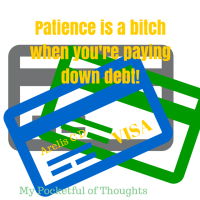 Patience is a bitch when you're paying down debt!