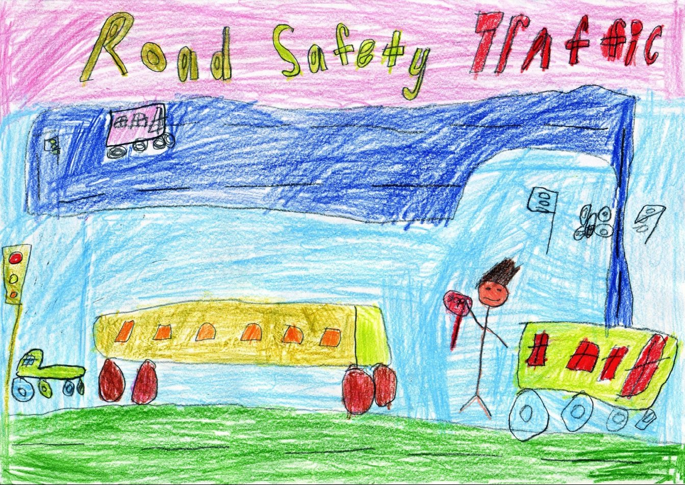 Poster Kids For Road Safety